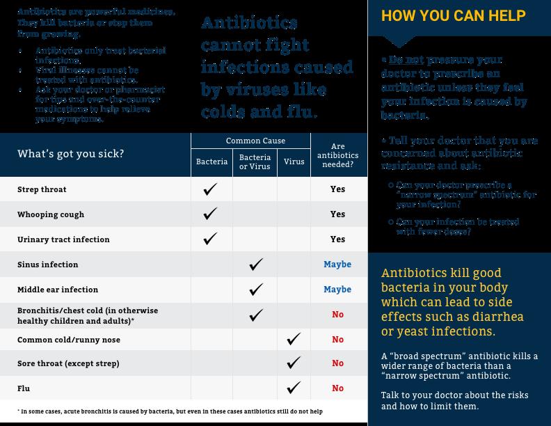 Antibiotics what you should know brochure brochure front brochure back