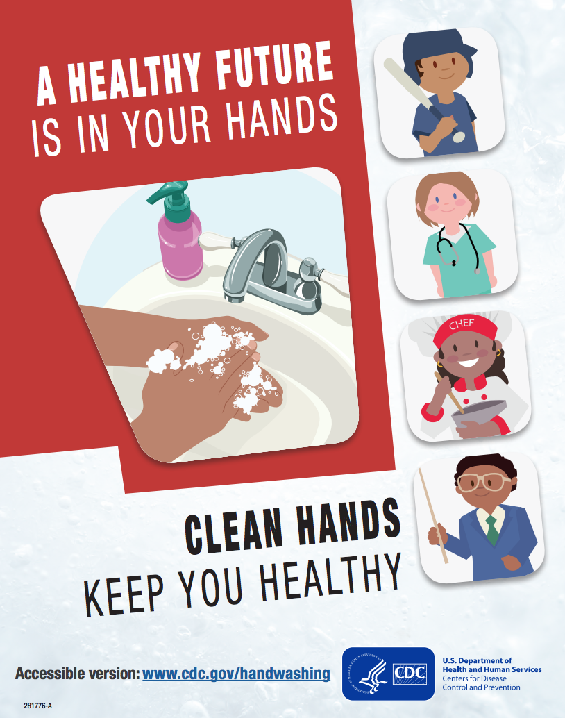 healthy future wash hands poster